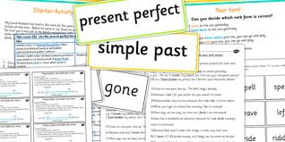 changing verb tense by adding ed spag teaching powerpoint
