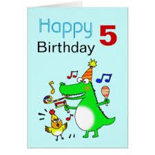 5 year old boy greeting cards zazzle