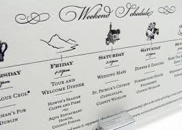 wedding invitations timeline schedule of events the day wedding events wedding
