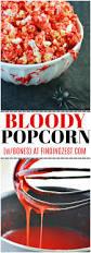 bloody popcorn with bones for halloween finding zest