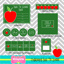 free chalkboard back to party printables from with envy