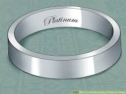 platinum metal rings images 3 ways to identify quality in platinum rings wikihow jpg