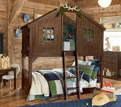 Barn Bunk Bed Tree House Bunk Bed Pottery Barn