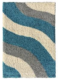 soft shag area rug 3x5 geometric striped turquoise grey shaggy rug