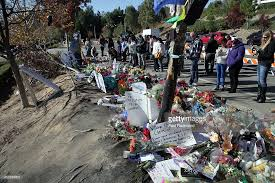 paul walker crash site becomes memorial photos and images getty