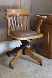 vintage oak 1930s adjule desk office chair antique swivel