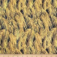Metallic Home Decor by Indian Batik Fir Sprigs Metallic Navy Gold Discount Designer