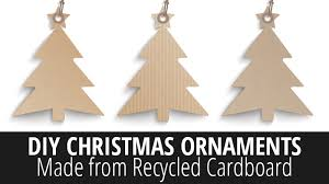 diy ornaments made from recycled cardboard