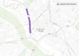 Map Of Downtown Dallas by Txdot Convert Car Lanes To Sidewalks To Connect Neighborhoods