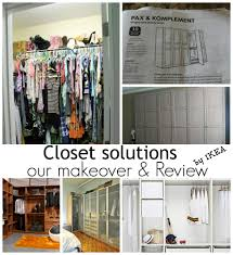 closet solutions and a makeover from ikea debbiedoos