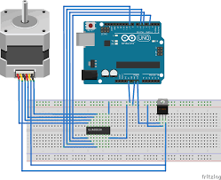 Stepper Motor Driver Wiring Diagram Fritzing Project U2013 Stepper Motor Control