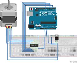 fritzing project u2013 stepper motor control