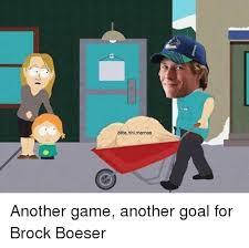 elitenhlmemes another game another goal for brock boeser meme on me me