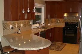 kitchen backsplash ideas with dark cabinets black chairs small