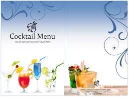 free printable drink menu template best agenda templates