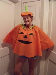 Halloween Pumpkin Costume Adults Pumpkin Poncho Felt Costume Orange Jack Lantern Sizes