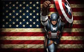 American Battle Flag Captain America Marches Onto Death Battle By Brave King Shishio