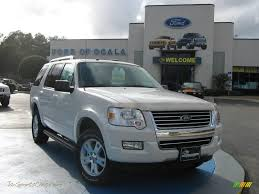 Ford Explorer White - 2010 ford explorer xlt in white suede a26301 jax sports cars