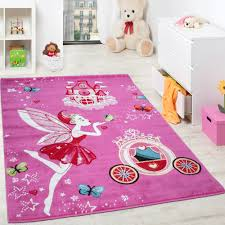 Rugs For Girls Children U0027s Rug Pink Fairy Princess Children Rugs For Girls Fuchsia