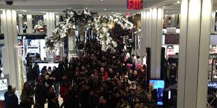 the inside the macy s flagship on thanksgiving was completely