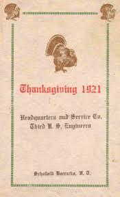 thanksgiving menus thanksgiving day menus post your own here ephemera