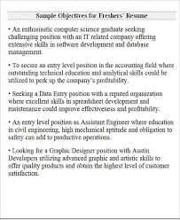 General Career Objective Examples For Resumes by Sample Resume Career Objective For Freshers