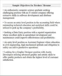 Best Career Objective In Resume For Freshers by Career Objectives In Resume For Freshers Best 10 Career
