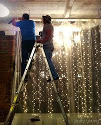 vertical strings of lights great other store ideas