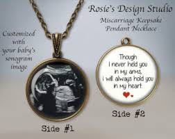 remembrance jewelry baby sonogram necklace etsy
