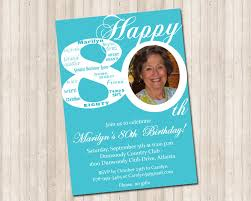 80th birthday invitation pure design graphics