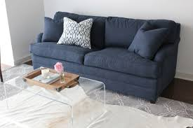 Navy Blue Sofas by A Blue Sofa Pop Of Color Or Glamorous Statement Piece Blue Door