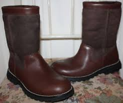 s ugg australia brown leather boots nwob womens ugg australia brown leather boots size 5 ebay