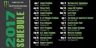 ama motocross calendar 2017 monster energy supercross schedule unveiled mxbars net