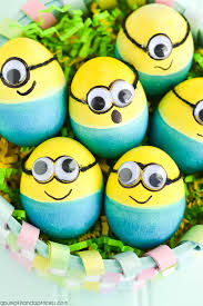 Despicable Me Easter Egg Decorating Kit by Dyed Minion Easter Eggs A Pumpkin And A Princess