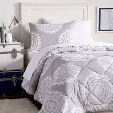 light grey comforter set medallion florette deluxe value comforter set pbteen in light grey