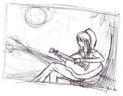 guitar sketch by xxcristalcatxx on deviantart