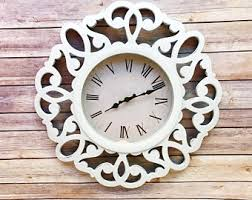 Shabby Chic Wall Clocks by Rustic Wall Clock Etsy