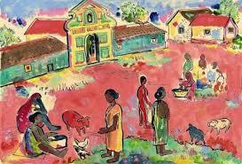 art goa indian art art styles scene acrylics styles of art indian paintings art types