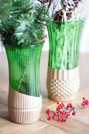 Florist Vases Thrifty Diy Metallic Dipped Vases Design Improvised