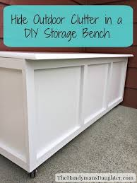 Outside Storage Bench How To Build An Outdoor Storage Bench The Handyman S