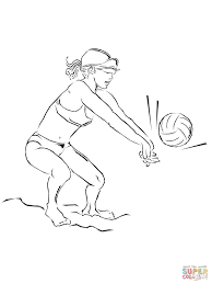 playing beach volleyball coloring page free printable coloring pages