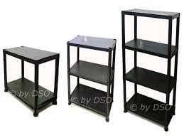 4 Tier Shelving Unit by 3 X 4 Tier Black Plastic Racking Shelving Shelves Rack Storage