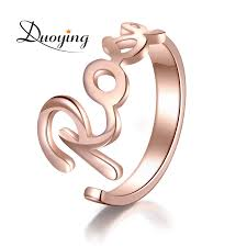 Name Ring Gold Duoying Custom Name Ring Gold Color Personalized Fashion Ring