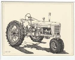 farmall tractor this 6 pack of blank ivory cards with
