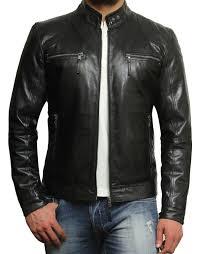 leather apparel brandslock men u0027s lambskin genuine leather biker jacket l black