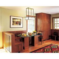 Kitchen Table With Built In Bench Arts U0026 Crafts Kitchen With Built In Bench From Crown Point Cabinetry