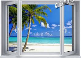 ocean window 1 piece canvas peel stick wall mural tropical ocean window 1 piece canvas peel stick wall mural