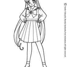 sailor moon cat coloring pages hellokids