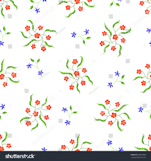Country Style Wallpaper Simple Feminine Pattern Country Style Seamless Stock Vector