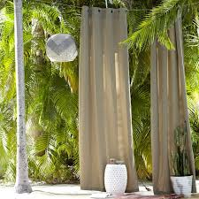 Outdoor Curtains With Grommets Solid Outdoor Curtain West Elm